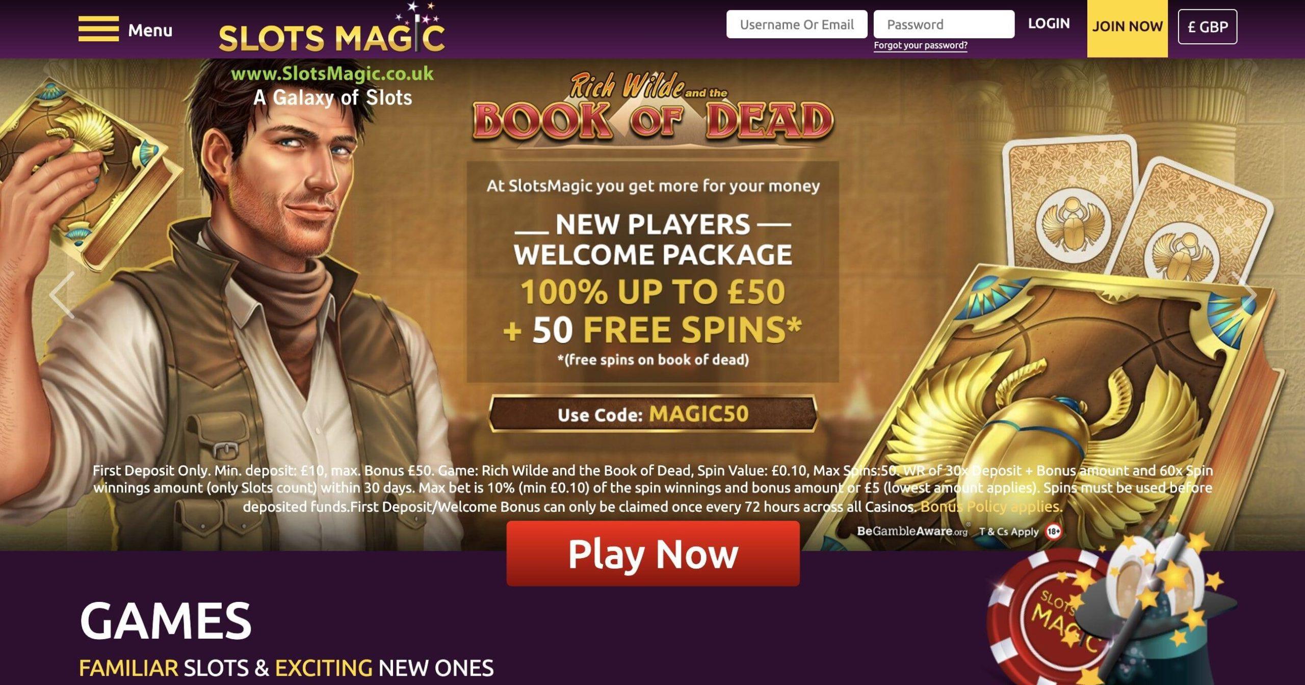 Slots Magic Homepage