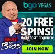 BGO 20 No Deposit Free Spins