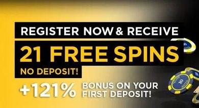 21 Casino 21 No Deposit Free Spins 121 First Deposit Bonus More