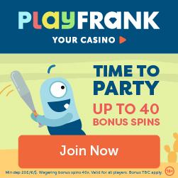 PlayFrank Casino 100% Bonus + 100 Free Spins