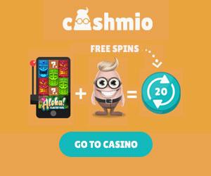 Cashmio 20 Free Spins