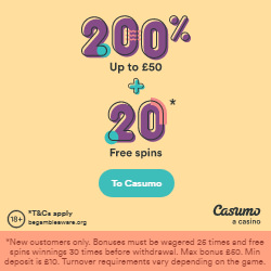 Casumo Welcome Bonus