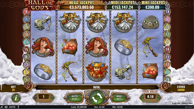 Hall of Gods Jackpot Slot