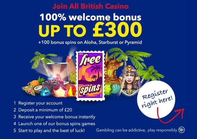 all british casino bonus spins