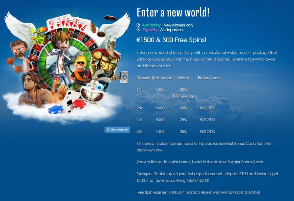 sloty casino no deposit bonus code