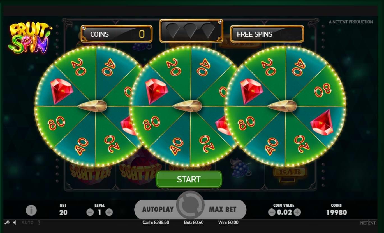 Fruit Spin Bonus Game
