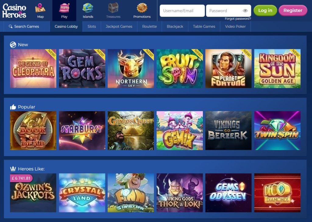 casino heroes app