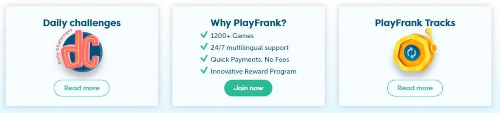 playfrank daily challenges