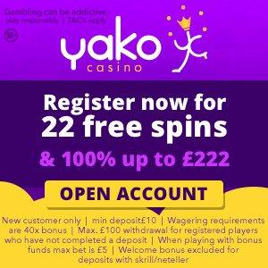 Yako 22 spins