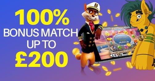 monster casino 2ND deposit match