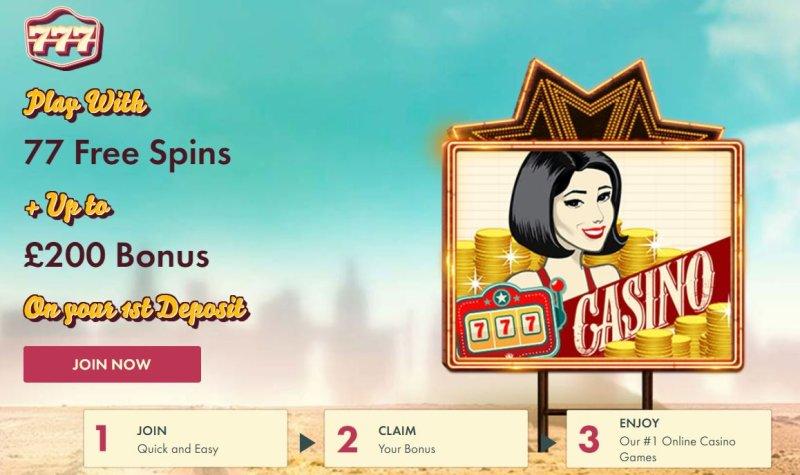777 Casino 100 Up To 200 77 No Deposit Free Spins