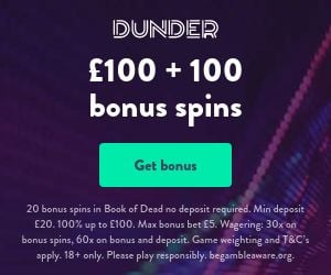 dunder casino uk bonus