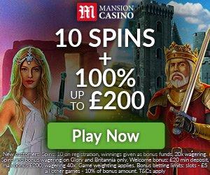mansion live casino bonus