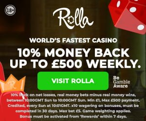 rolla casino cashback