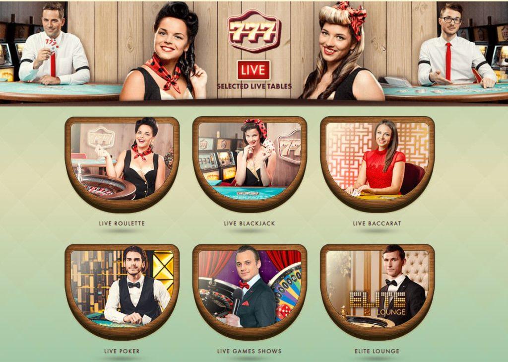 777 live casino