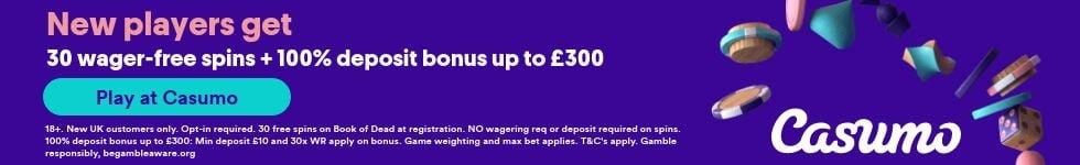 Casumo Free Spins No Deposit Bonus