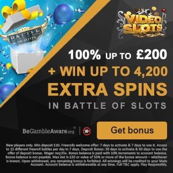 videoslots uk bonus