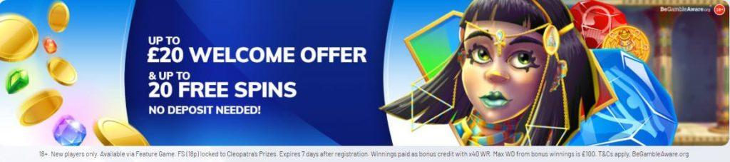 Casino2020 Cash Match Bonus